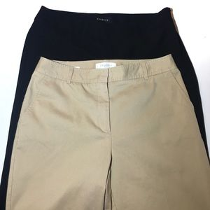 Talbots Heritage Pants Bundle Size 8 Black & Tan